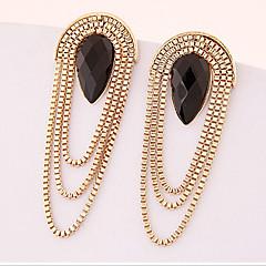 preiswerte Ohrringe-Damen Quaste Tropfen-Ohrringe - vergoldet Tropfen Erklärung Farbbildschirm Für