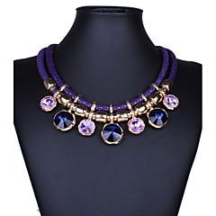 preiswerte Halsketten-Damen Kristall Anhängerketten Statement Ketten - Krystall Erklärung, Retro, Modisch Purpur, Rot, Blau Modische Halsketten Schmuck Für Party, Besondere Anlässe, Geburtstag
