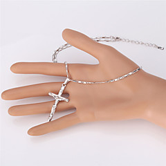 Naisten Choker-kaulakorut Riipus-kaulakorut Kaulaketjut Statement kaulakorut Vintage Kaulakoru Cross Shape Platinum Plated Gold Plated