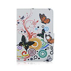 preiswerte Tablet-Hüllen-Hülle Für Xiaomi MI / Lenovo IdeaPad / Tolino Hüllen (Full Body) / Hüllen mit Ständer Ganzkörper-Gehäuse Tier / Blume Hart PU-Leder für
