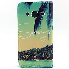 Na Samsung Galaxy Etui Etui na karty / Portfel / Z podpórką / Flip Kılıf Futerał Kılıf Drzewo Skóra PU SamsungCore Prime / Core Plus /