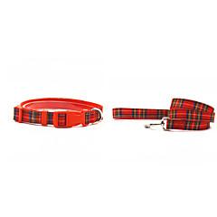 お買い得  犬用首輪/リード/ハーネス-ネコ / 犬 カラー / リード 繊維 / ナイロン グレー / レッド / グリーン