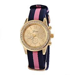 お買い得  レディース腕時計-女性用 リストウォッチ クォーツ ホット販売 生地 バンド ハンズ 光沢タイプ ファッション 多色 - 3 # 4 # 5 #