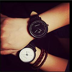 voordelige Horloges voor stelletjes-Heren Polshorloge PU Band Zwart Wit Bruin Zwart Bruin zwart/wit Wit/bruin