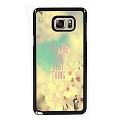 Для Samsung Galaxy Note Чехлы панели С узором Задняя крышка Кейс для Слова / выражения PC для Samsung Note 5 Edge Note 5 Note 4 Note 3