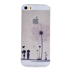 voordelige iPhone 7 Plus hoesjes-hoesje Voor Apple iPhone 5 hoesje iPhone 6 iPhone 6 Plus iPhone 7 Plus iPhone 7 Transparant Patroon Achterkant Paardebloem Zacht TPU voor