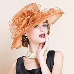 Недорогие Женские украшения-Для женщин Для женщин Для вечеринки Широкополая шляпа , Сетка , Лето