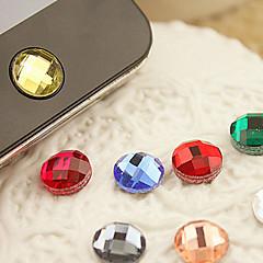 abordables Gadgets para Samsung-etiqueta engomada casera del botón de la resina para la galaxia s8 s7 samsung del iphone 8 7 (color al azar)