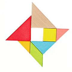 abordables Juguetes de la matemáticas-Tangram Puzzle Puzzles de Madera Juguetes Divertido Clásico Piezas Niños Regalo