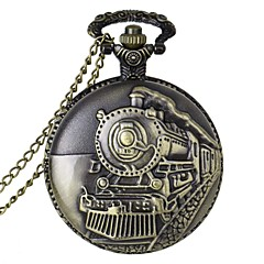 cheap Pocket Watches-Men's Pocket Watch Quartz Casual Watch Alloy Band Charm Bronze
