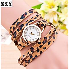 abordables Relojes con Diseño Leopardo-Mujer Reloj de Moda Cuarzo Piel Banda Analógico Leopardo Naranja / Marrón / Gris - Gris Fucsia Marrón