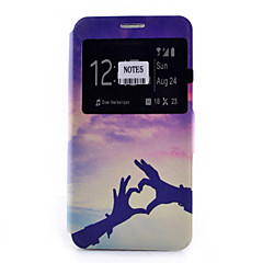 Недорогие Чехлы и кейсы для Galaxy Note 5-Кейс для Назначение SSamsung Galaxy Samsung Galaxy Note Бумажник для карт со стендом с окошком Флип С узором Чехол С сердцем Мягкий Кожа