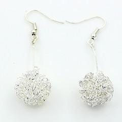 preiswerte Ohrringe-Damen Kubikzirkonia Tropfen-Ohrringe - Kubikzirkonia, Platiert Europäisch, Modisch Silber Für