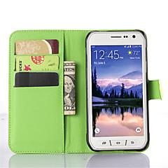 tanie Galaxy S4 Mini Etui / Pokrowce-Na Samsung Galaxy Etui Z podpórką / Z okienkiem Kılıf Futerał Kılıf Jeden kolor Skóra PU SamsungS6 Active / S5 Mini / S5 Active / S4 Mini