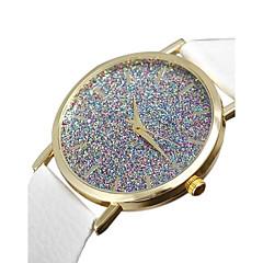 お買い得  レディース腕時計-女性用 クォーツ 宝飾腕時計 模造ダイヤモンド PU バンド チャーム ファッション ブラック 白