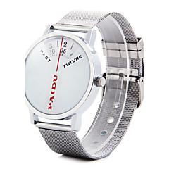 お買い得  大特価腕時計-男性用 ユニークなクリエイティブウォッチ 日本産 カジュアルウォッチ 合金 バンド チャーム シルバー