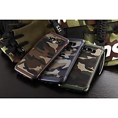 For Samsung Galaxy etui Stødsikker Etui Bagcover Etui Camouflage PC for Samsung A8 A7 A5