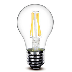 お買い得  LED 電球-1個 400 lm E26 / E27 フィラメントタイプLED電球 G60 4 LEDビーズ COB 調光可能 温白色 220-240 V / 110-130 V / 1個 / RoHs / LVD