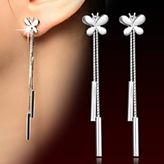 preiswerte Ohrringe-Damen Quaste Tropfen-Ohrringe - Sterling Silber Silber Für Alltag Normal Sport