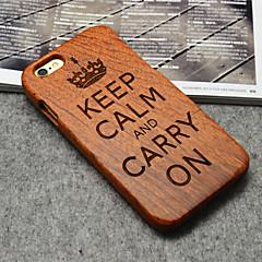 Для Кейс для iPhone 6 Plus Чехлы панели Задняя крышка Кейс для Твердый Дерево для iPhone 6s Plus iPhone 6 Plus