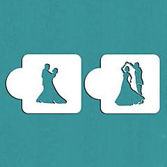 olcso Sütőeszközök és kütyük-Valentin ajándék táncoló pár torta stencil cookie-stencil, st-359