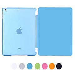 abordables Carcasas y Fundas para iPad Air-Funda Para Apple con Soporte / Activado / Apagado Automático Funda de Cuerpo Entero Un Color Cuero de PU para iPad Air