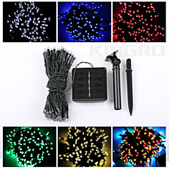 King Ro solar 39.37ft 100LED 8 Mode Christmas Decor Flashing Light Outdoor Waterproof String Light