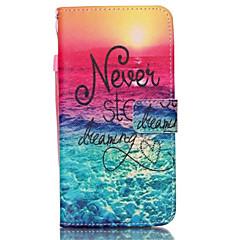 Voor Samsung Galaxy Note Kaarthouder / Portemonnee / met standaard / Flip hoesje Volledige behuizing hoesje Woord / tekst PU-leer Samsung
