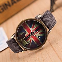 preiswerte Tolle Angebote auf Uhren-Damen Quartz Armbanduhr Armbanduhren für den Alltag Leder Band Retro Modisch Schwarz Weiß Blau Rot Braun Grün Rosa Gelb