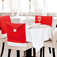 6 db / tétel mikulás sapka székhuzatok karácsonyi dekoráció konyha étkezőasztal dísz házibuli
