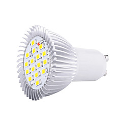 cheap LED Bulbs-1pc 5W GU10 LED Spotlight 16 SMD5630 3000K/6500K Decorative AC85-265V