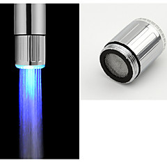お買い得  蛇口用 LED ライト-水栓 ブラシ デッキマウント コンテンポラリー / A級ABSプラスチック / LED