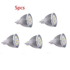 5kpl mr16 5w led spotlight 15 smd5630 650 lm lämmin valkoinen kylmä valkoinen koristeellinen dc12v