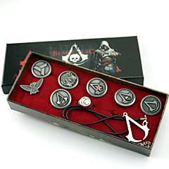 Sieraden geinspireerd door Assassin's Creed Connor Anime/ Computer Games Cosplay Accessoires Kettingen / Insigne / Broche Zilver Legering