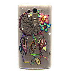 Feather Dreamcatcher Pattern TPU Relief Back Cover Case for LG G3
