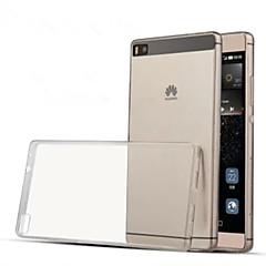 お買い得  Huawei 用ケース/カバー-ケース 用途 Huawei社P8 Huawei Huaweiケース 超薄型 クリア バックカバー 純色 ソフト TPU のために Huawei P8 Huawei