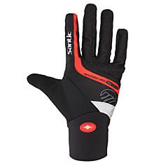 SANTIC Rękawiczki sportowe Rękawiczki rowerowe Keep Warm Odblaskowy Wearproof Odporny na wstrząsy Full Finger Fibre Cotton Narciarstwo