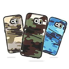 Mert Samsung Galaxy tok Kártyatartó Case Hátlap Case Álcázás PC Samsung S6 edge / S6