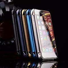 お買い得  iPhone 5S/SE ケース-ケース 用途 iPhone 5 Apple iPhone 5ケース メッキ仕上げ ミラー フリップ フルボディーケース 純色 ハード メタル のために iPhone SE/5s iPhone 5