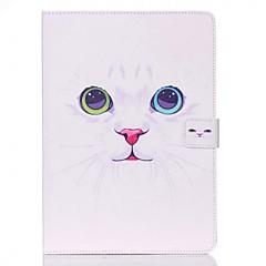 hvid kat mønster standoff beskyttende taske til ipad air 2 ipad tilfælde / omslag