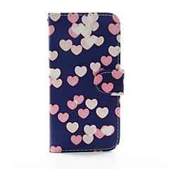 Недорогие Кейсы для iPhone 5-Кейс для Назначение Apple Кейс для iPhone 5 iPhone 6 iPhone 6 Plus Бумажник для карт Кошелек со стендом Чехол С сердцем Твердый Кожа PU