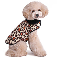 Koty Psy Yelek Wielokolorowy/a Ubrania dla psów Zima Wiosna/jesień Matowa czerń Modny Zatrzymujący ciepło