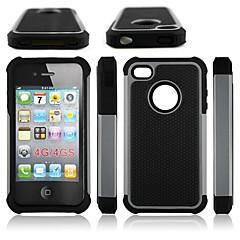 Недорогие Кейсы для iPhone 4s / 4-Кейс для Назначение iPhone 4/4S Apple Кейс на заднюю панель Твердый Силикон для iPhone 4s/4