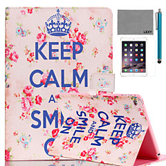 cheap Cases/Covers for iPad Air-Case For iPad Air with Stand Pattern Full Body Cases Word / Phrase PU Leather for iPad Air