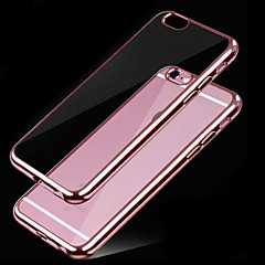 billige Etuier til iPhone 7 Plus-For iPhone 6 etui Belægning Transparent Etui Bagcover Etui Helfarve Blødt TPU for iPhone 7 Plus iPhone 7 iPhone 6s/6