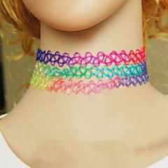 preiswerte Halsketten-Damen Halsketten / Gothic Schmuck - Harz Modisch Rose, Hellblau, Regenbogen Modische Halsketten Schmuck Für Alltag, Normal, Sport
