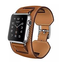 halpa -Watch Band varten Apple Watch Series 3 / 2 / 1 Apple Rannehihna Perinteinen solki Aito nahka