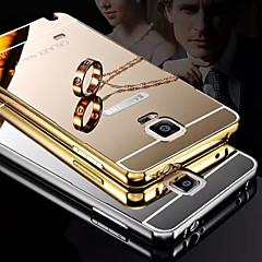 покрытие зеркало обратно с телефона случае металлический каркас для Galaxy Note 4 / Примечание 5 (разных цветов)
