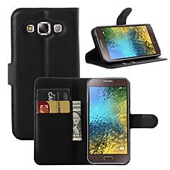 Mert Samsung Galaxy tok Kártyatartó / Pénztárca / Állvánnyal / Flip Case Teljes védelem Case Egyszínű Műbőr SamsungOn7 Pro / On5 Pro / E7
