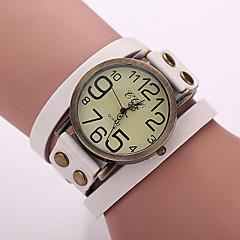 お買い得  レディース腕時計-女性用 リストウォッチ クォーツ PU バンド ハンズ ヴィンテージ ボヘミアンスタイル ファッション ブラック / 白 / ブルー - レッド グリーン ブルー 1年間 電池寿命